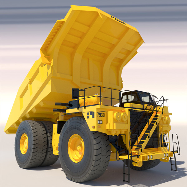 articulated dump truck bulldozer 3d max - Collection Mining Machines 1... by ArqArt3D