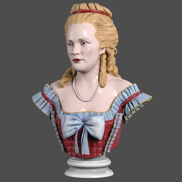 lady bust baroque max - Baroque Lady Bust... by clay master