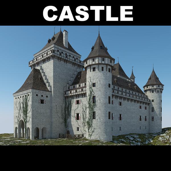 3d model castle 2