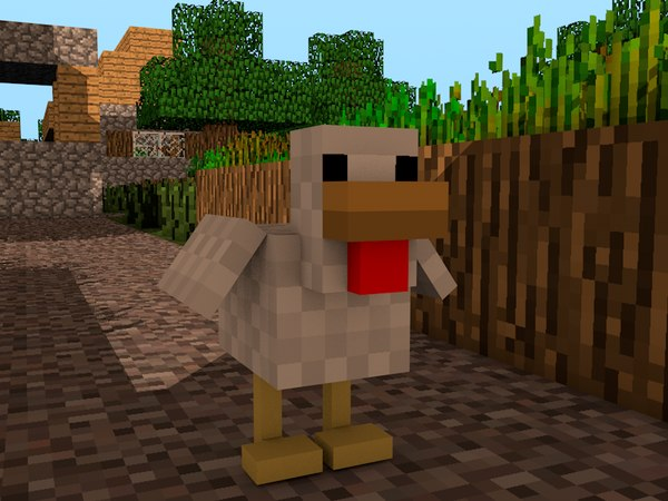 cinema4d minecraft chicken rig