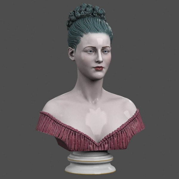 3d decorative bust lady - Lady Bust... by clay master