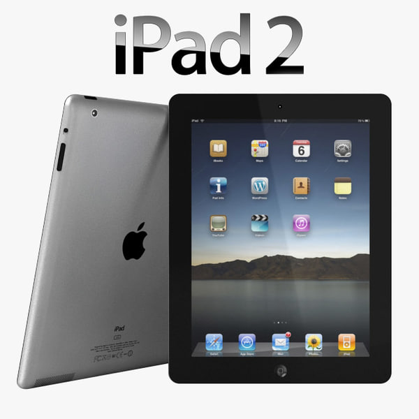 3d apple ipad 2 ipad2