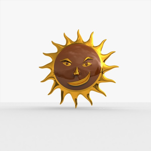 3d smirking sun model - Smirking Sun... by MP Design