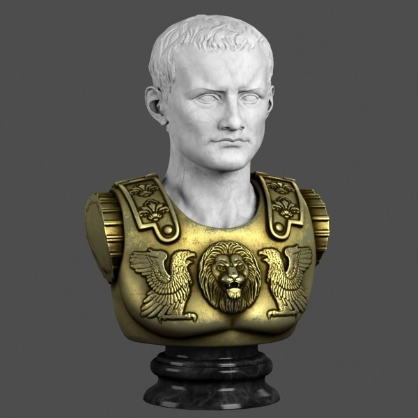 decorative bust caesar max - Caesar Bust... by clay master