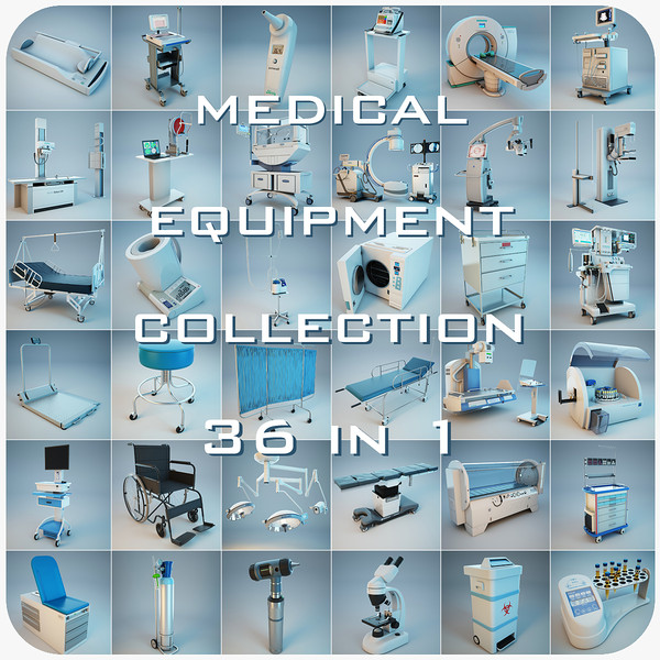 3ds medical equipment 36 1 - Medical Equipment Collection 36 in 1... by Stubborn3D