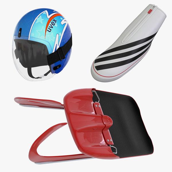 maya luge sled helmet