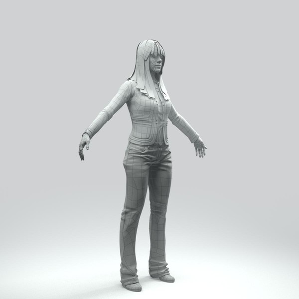 body rigged skin 3d model - CWom0006-HD2-CS... by axyzdesign