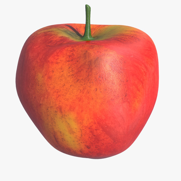 3d model apple fruit