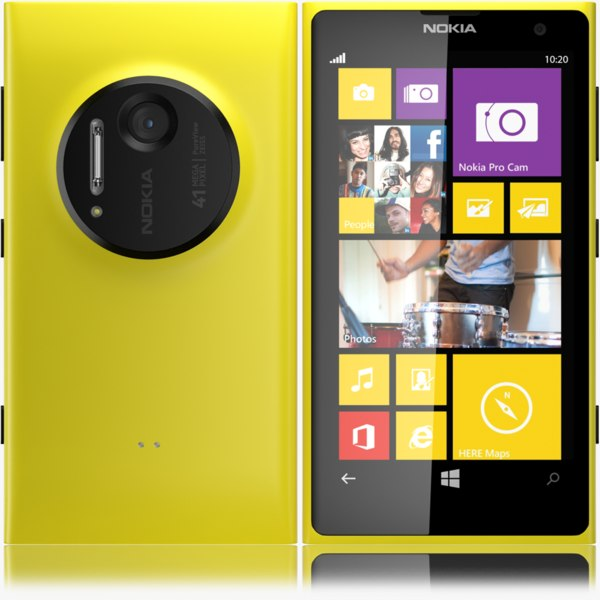 3d nokia lumia 1020 yellow