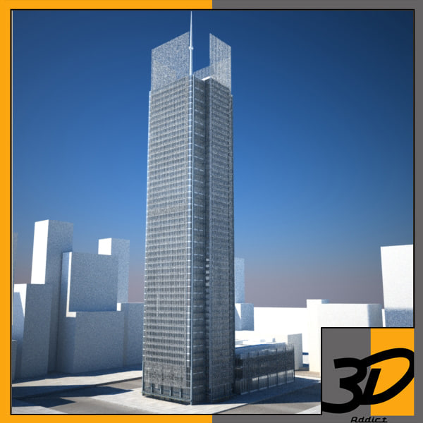 3ds max hd new york building skyscraper