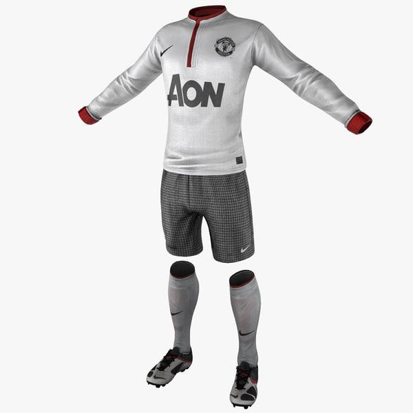 soccer gear 3d obj