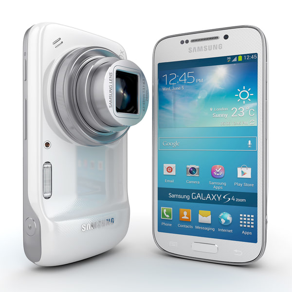 3d samsung galaxy s4 zoom - Samsung Galaxy S4 Zoom Android Smartphone White And Blue... by Leeift