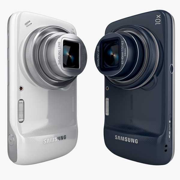 Samsung Galaxy S4 Zoom Android Smartphone White And Blue