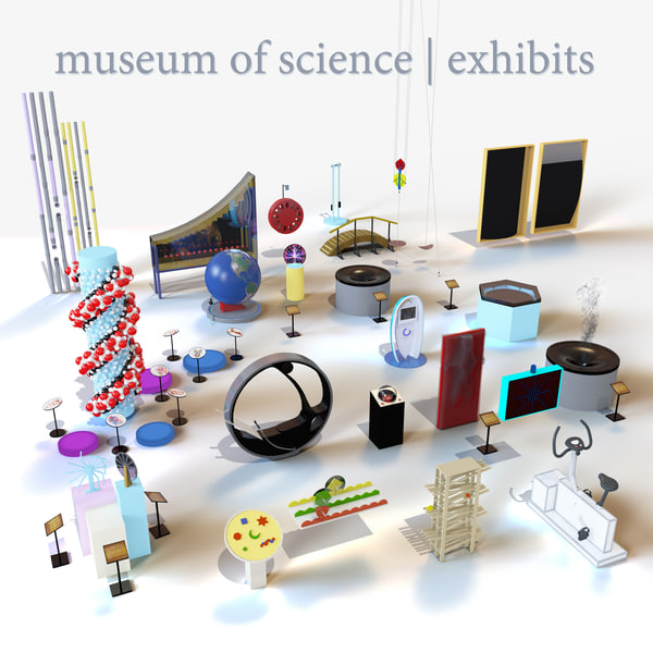3d model of museum science exhibits