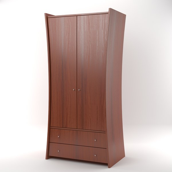 3ds embrace wardrobe mahogany