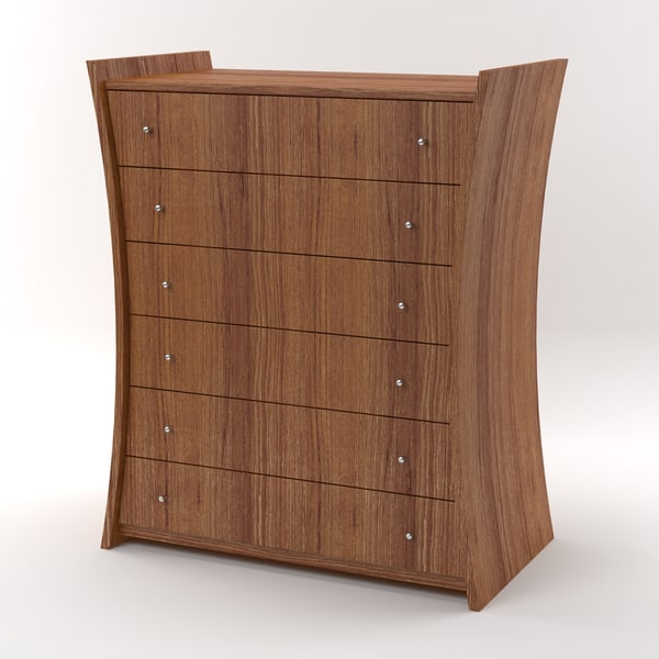 embrace chest drawers nut 3d max