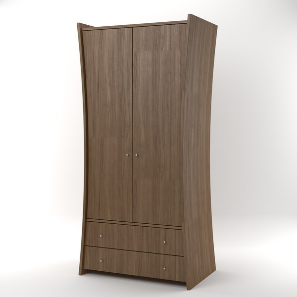 3d embrace wardrobe oak