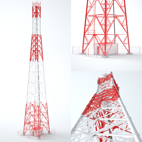 3ds max communication tower