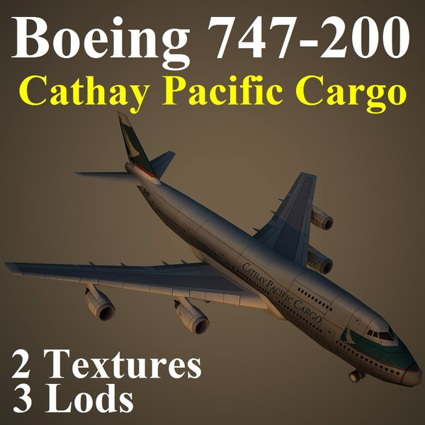 3d model boeing 747-200 cpa