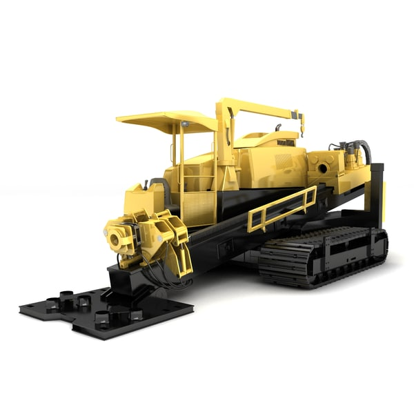 3d directional drilling rig model