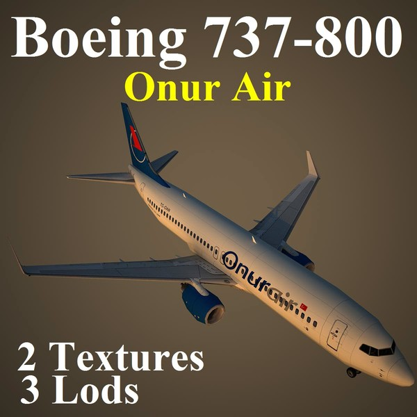 boeing 737-800 ohy 3d max