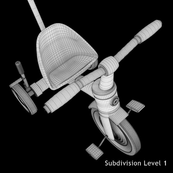 3d children s tricycle model - Children's Tricycle Toy... by Stubborn3D