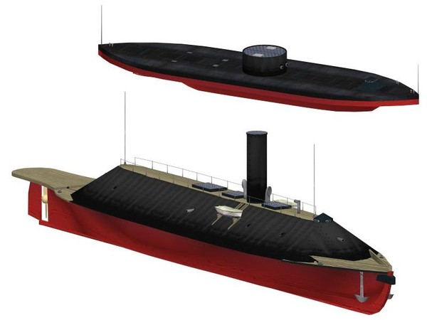 3ds max uss monitor css virginia - USS Monitor CSS Virginia... by FangioDesign