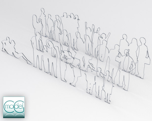 obj silhouette people - people all style - packet 03... by CG MODEL