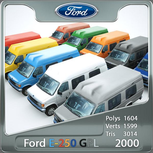 3d model van e250 games