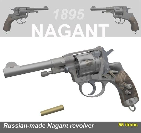 maya revolver nagant pistol