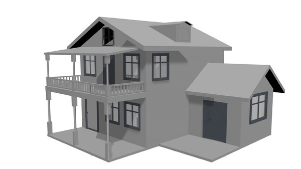 free house home 3d model