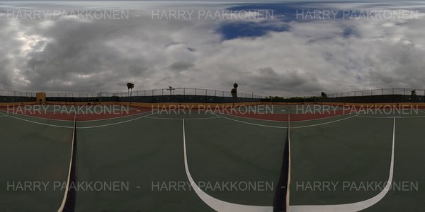 TENNIS COURT AT THE NET - 360 HDR PANORAMA # 219