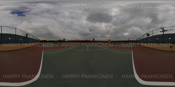 TENNIS COURT FROM THE SIDE - 360 HDR PANORAMA # 220
