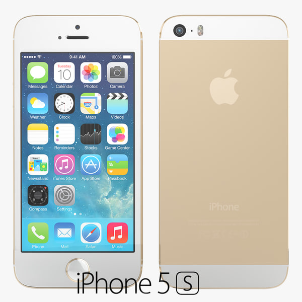 verson apple phone 5s 3d model