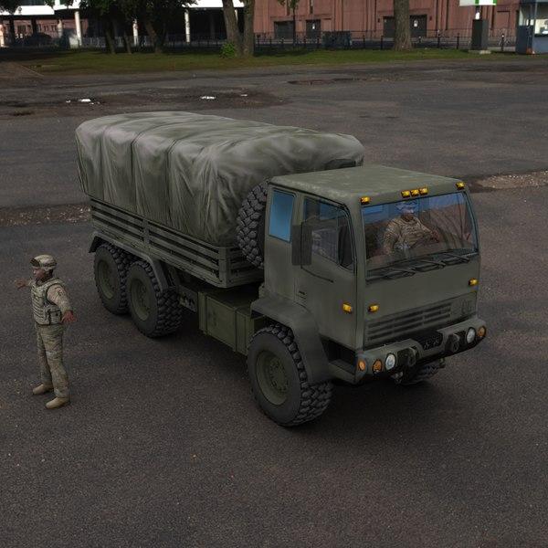 3d model f m1083 army truck