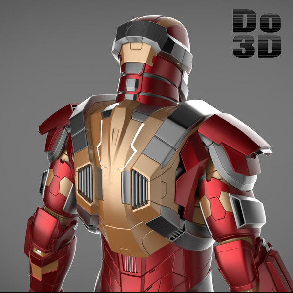 mark 42 armors iron 3d model
