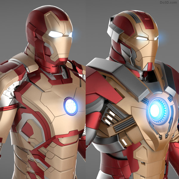 Iron Man 3 Suits - Mark 42 Tony Stark Armor & Mark 17 Heartbreaker Armor