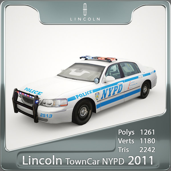 3ds 2011 town car nypd