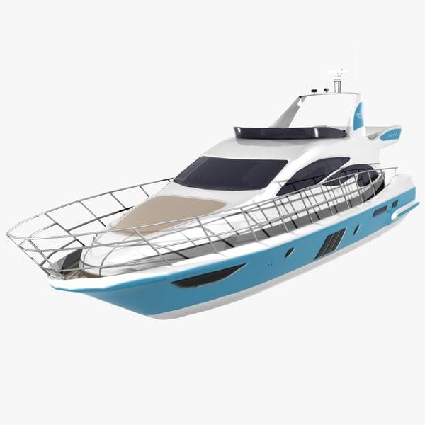 3d model azimut 60 yachts