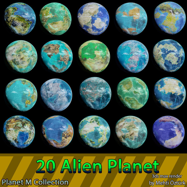 3d planets m model