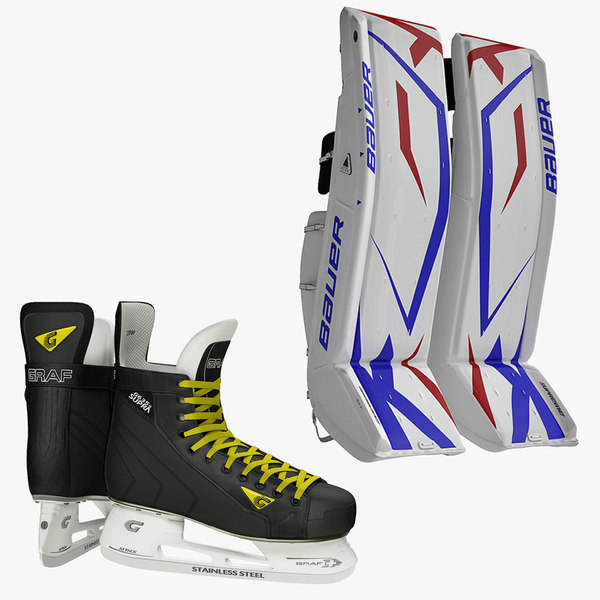 ice hockey leg pads 3d max