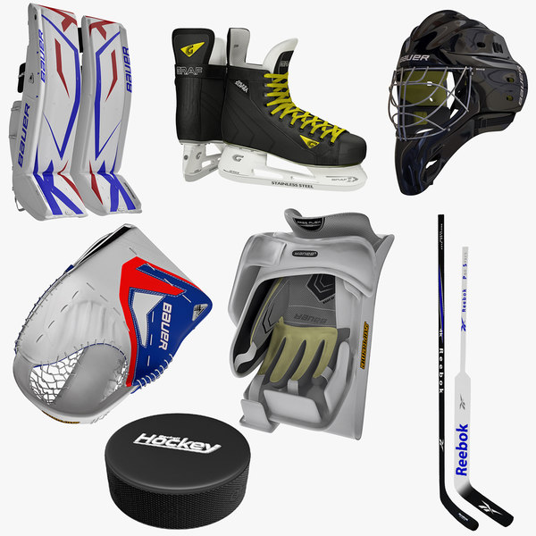 3ds max ice hockey goalkeeper equipment