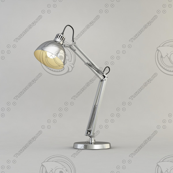 lamp desk chrome 3d model - Lamp Desk Chrome... by PlastyForma