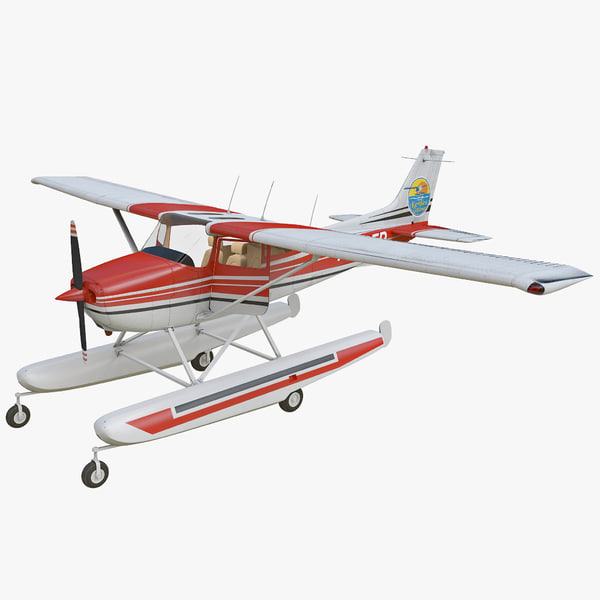 3ds max cessna 172 seaplane rigged