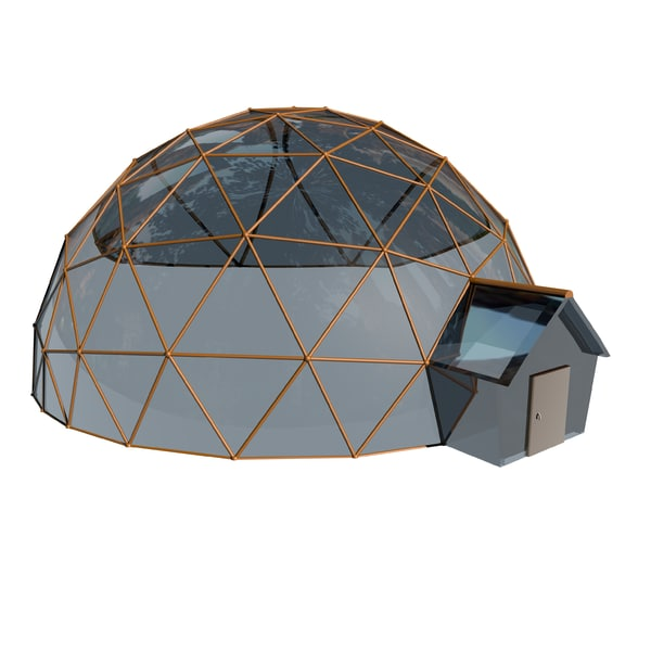 3ds max geodesic house