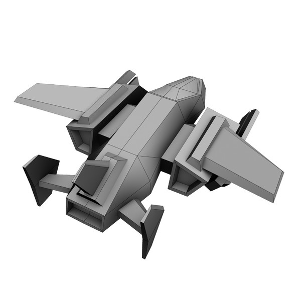 3d 8 small space ships model - 8 Small Space Ships... by Angryfly