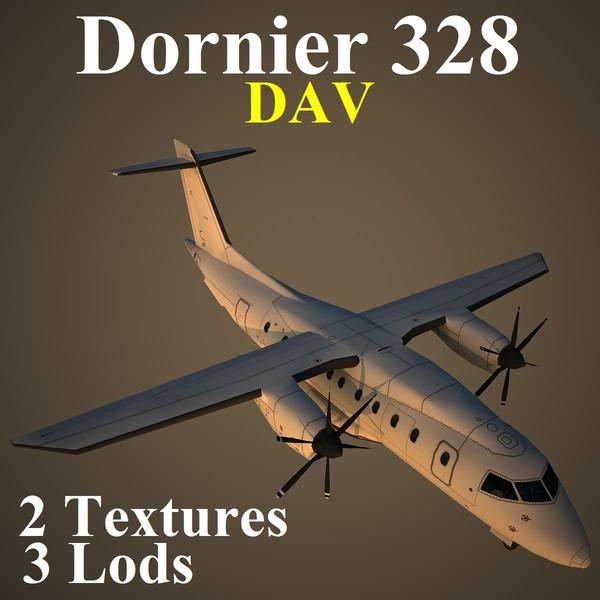 dornier 328 dav 3d model