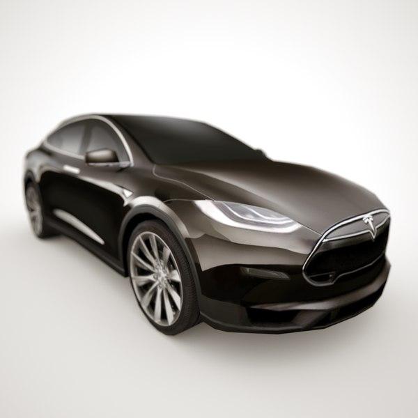 Tesla Model 3 2017 Hd 4k Wallpaper: 3d 2013 Tesla X Custom Car