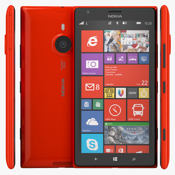 3d model nokia lumia 1520 phablet