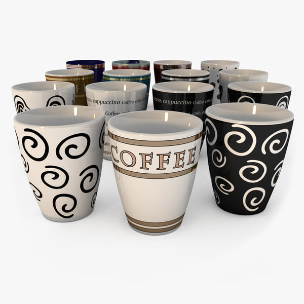 pack coffee cups 3d model